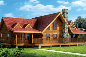 Lakewood log home from Hochstetler milling