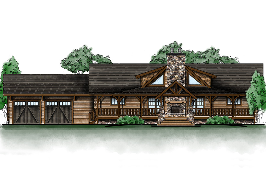 north cascade log home from Hochstetler Milling