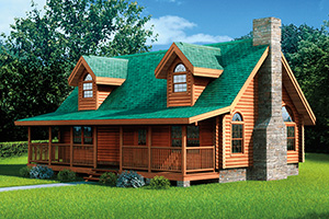 woodhaven log home by Hochstetler milling
